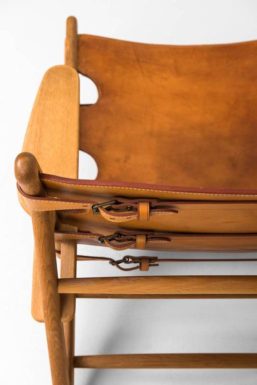 Mid-20th Century Børge Mogensen Hunting Easy Chairs by Fredericia Stolefabrik in Denmark For Sale