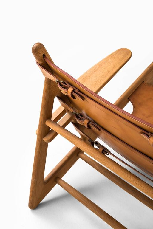 Leather Børge Mogensen Hunting Easy Chairs by Fredericia Stolefabrik in Denmark For Sale