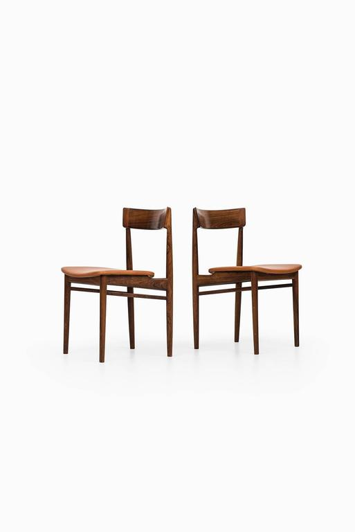 Scandinavian Modern Henry Rosengren Hansen Dining Chairs Model 39 by Brande Møbelfabrik in Denmark For Sale