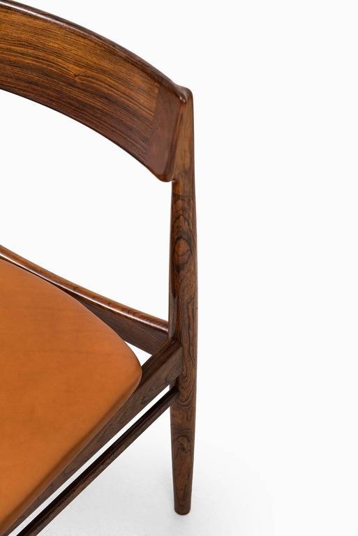 Danish Henry Rosengren Hansen Dining Chairs Model 39 by Brande Møbelfabrik in Denmark For Sale