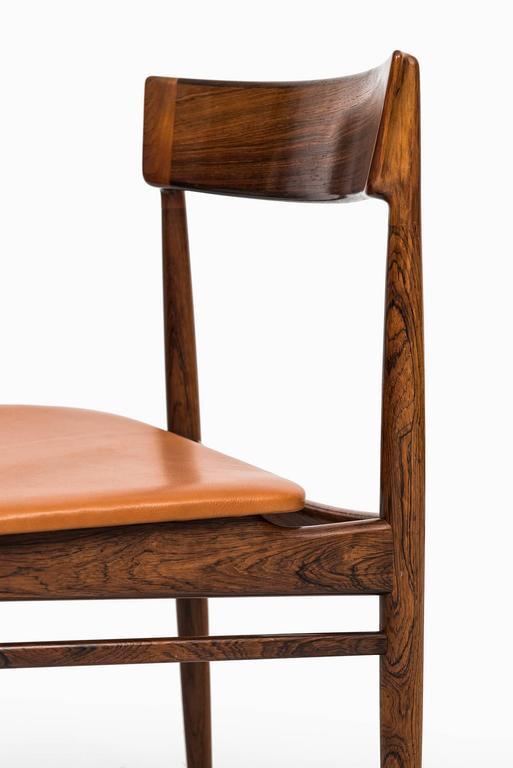 Henry Rosengren Hansen Dining Chairs Model 39 by Brande Møbelfabrik in Denmark In Excellent Condition For Sale In Malmo, SE