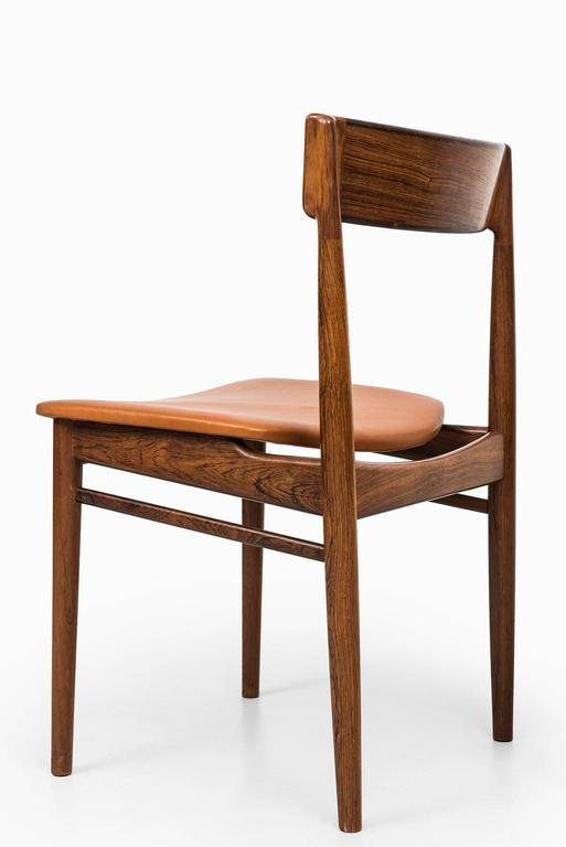 Mid-20th Century Henry Rosengren Hansen Dining Chairs Model 39 by Brande Møbelfabrik in Denmark For Sale