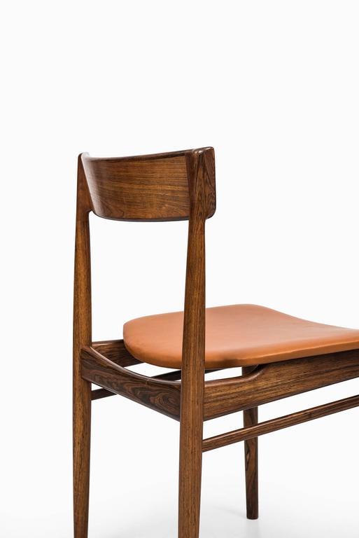 Henry Rosengren Hansen Dining Chairs Model 39 by Brande Møbelfabrik in Denmark For Sale 1