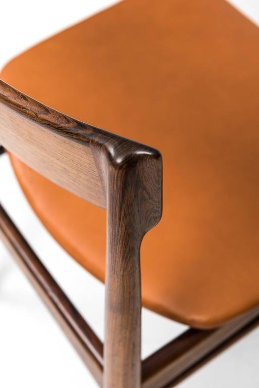 Henry Rosengren Hansen Dining Chairs Model 39 by Brande Møbelfabrik in Denmark For Sale 2