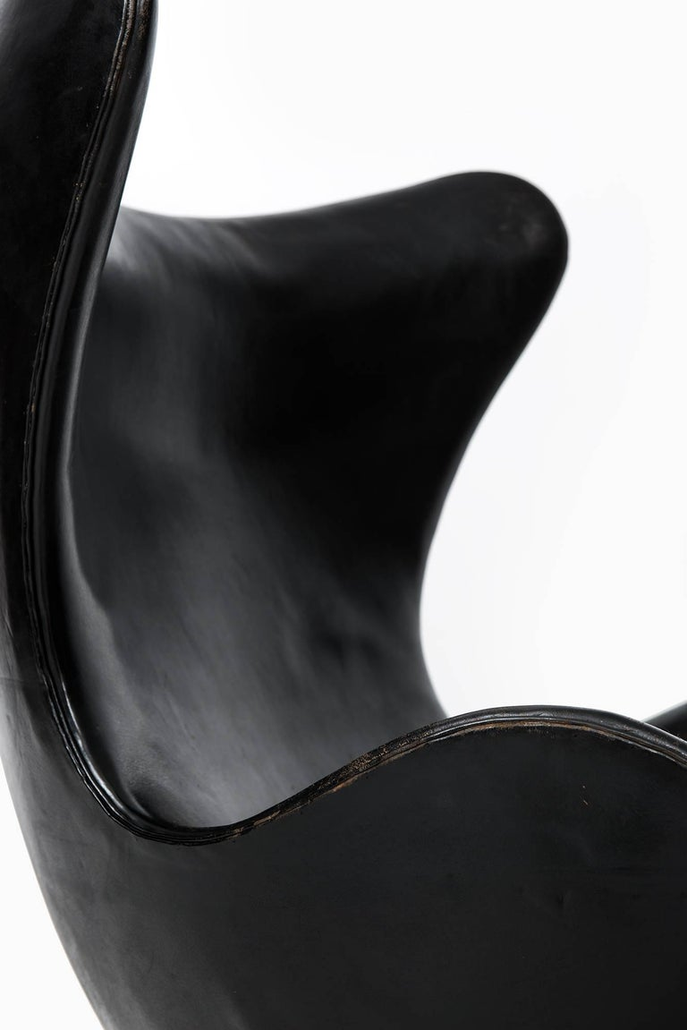 Rare and early easy chair model 3316 / Egg designed by Arne Jacobsen. Produced by Fritz Hansen in Denmark.