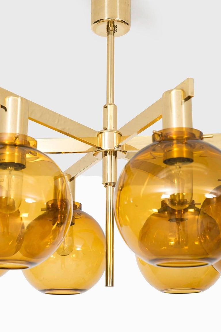 Rare ceiling lamp model T-348/6 designed by Hans-Agne Jakobsson. Produced by Hans-Agne Jakobsson AB in Sweden.