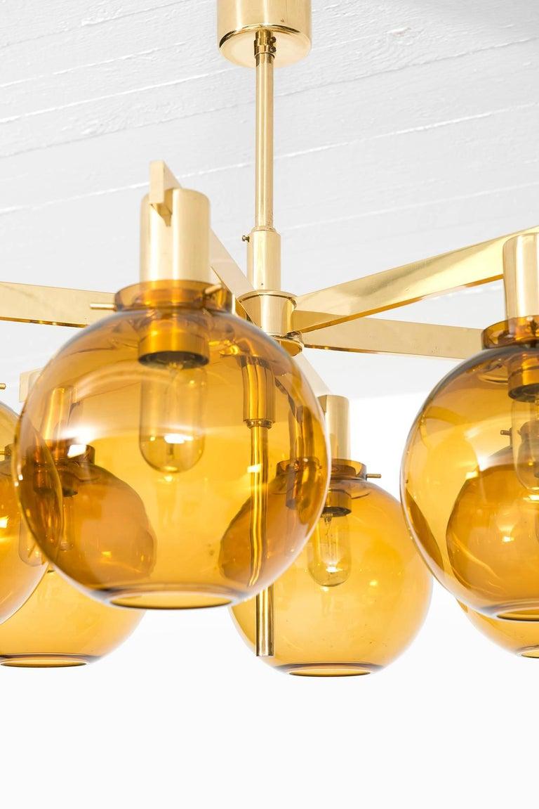 Swedish Hans-Agne Jakobsson Ceiling Lamp Model T-348/6 by Hans-Agne Jakobsson AB For Sale