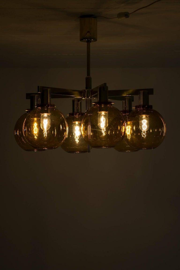 Mid-20th Century Hans-Agne Jakobsson Ceiling Lamp Model T-348/6 by Hans-Agne Jakobsson AB For Sale