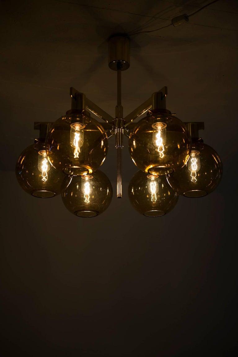Hans-Agne Jakobsson Ceiling Lamp Model T-348/6 by Hans-Agne Jakobsson AB For Sale 1