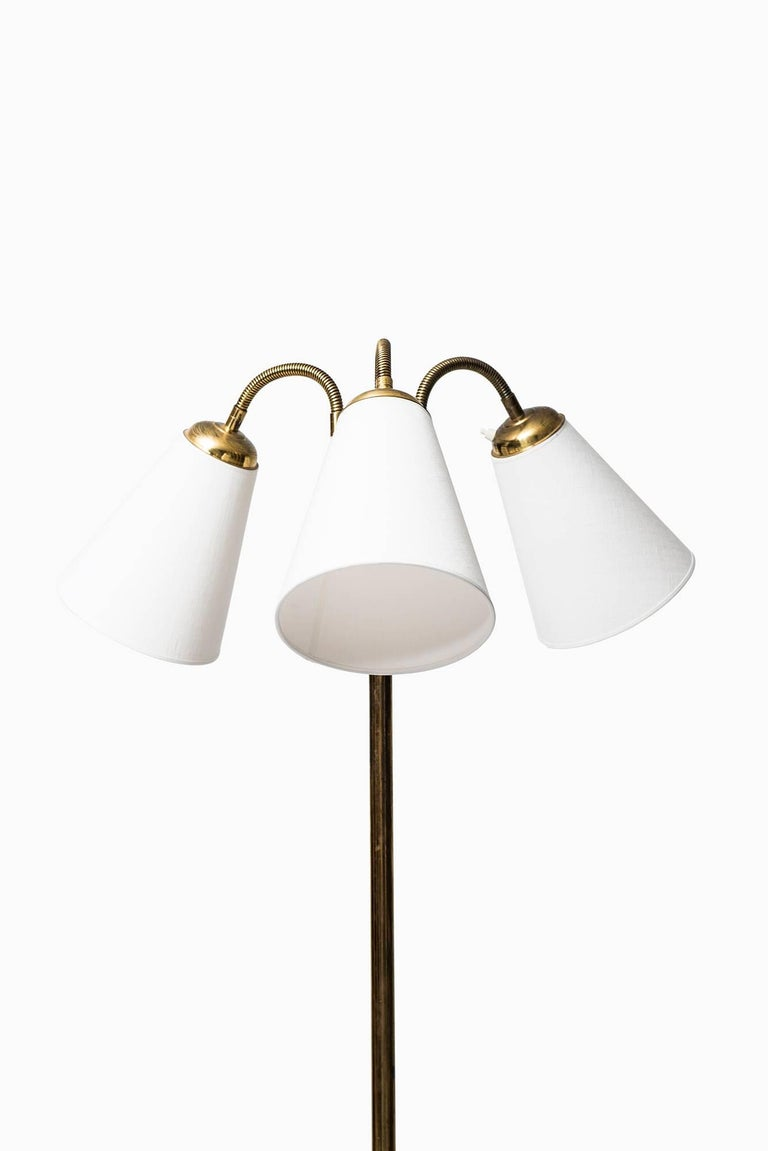 Floor Lamp with Three Flexible Arms Produced in Sweden at ...