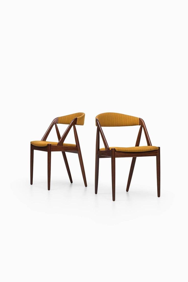 Scandinavian Modern Kai Kristiansen Dining Chairs by Schou Andersen in Denmark For Sale