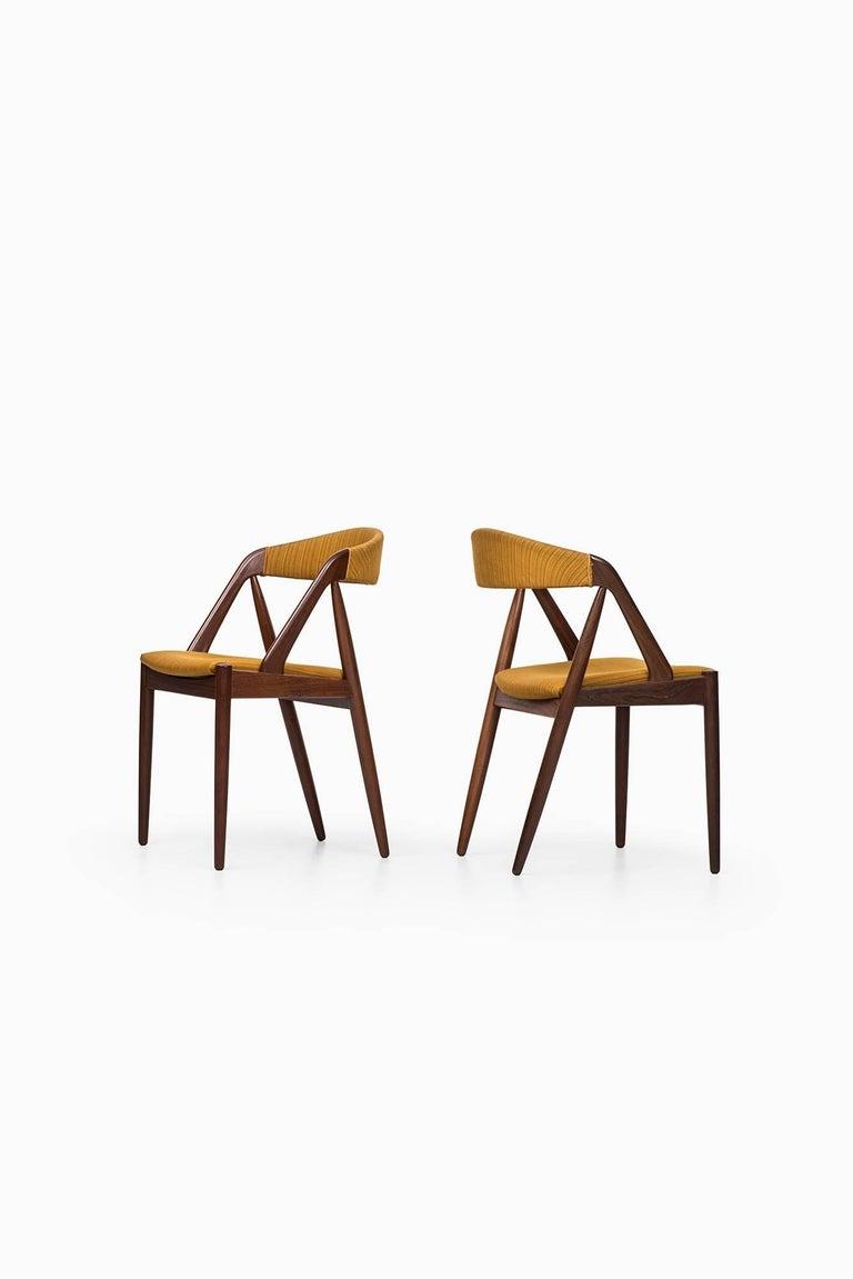 Mid-20th Century Kai Kristiansen Dining Chairs by Schou Andersen in Denmark For Sale