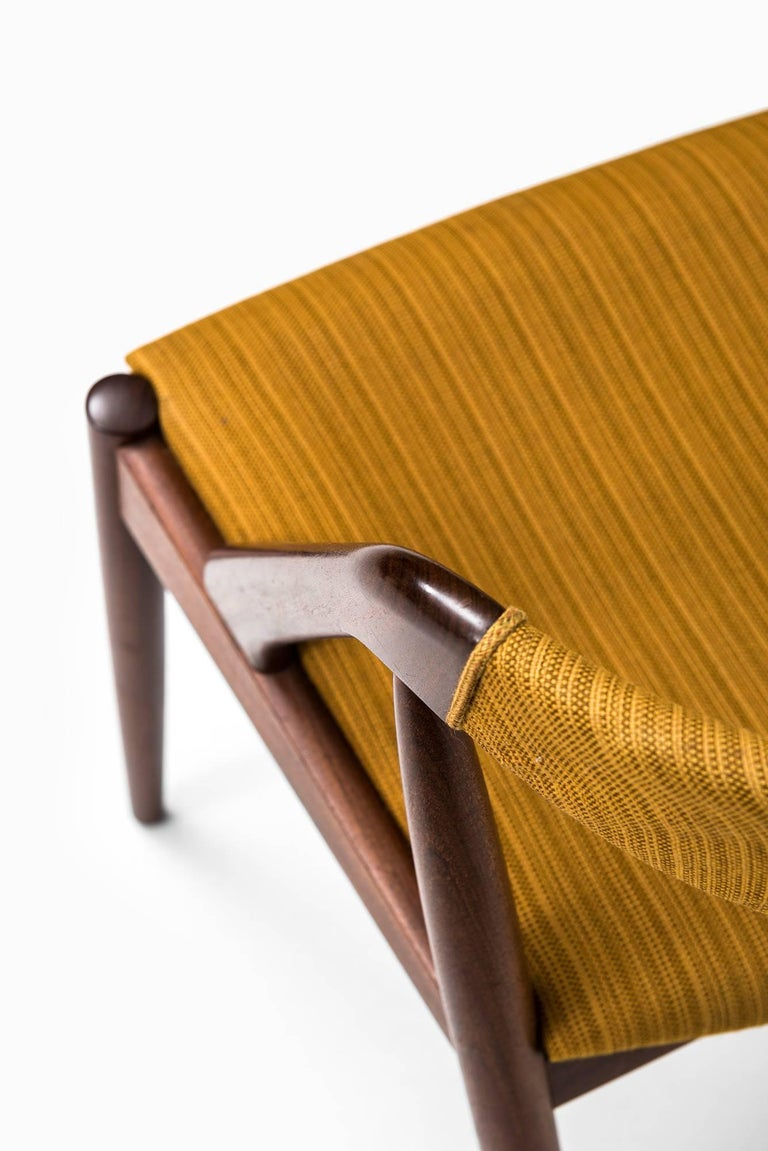 Fabric Kai Kristiansen Dining Chairs by Schou Andersen in Denmark For Sale