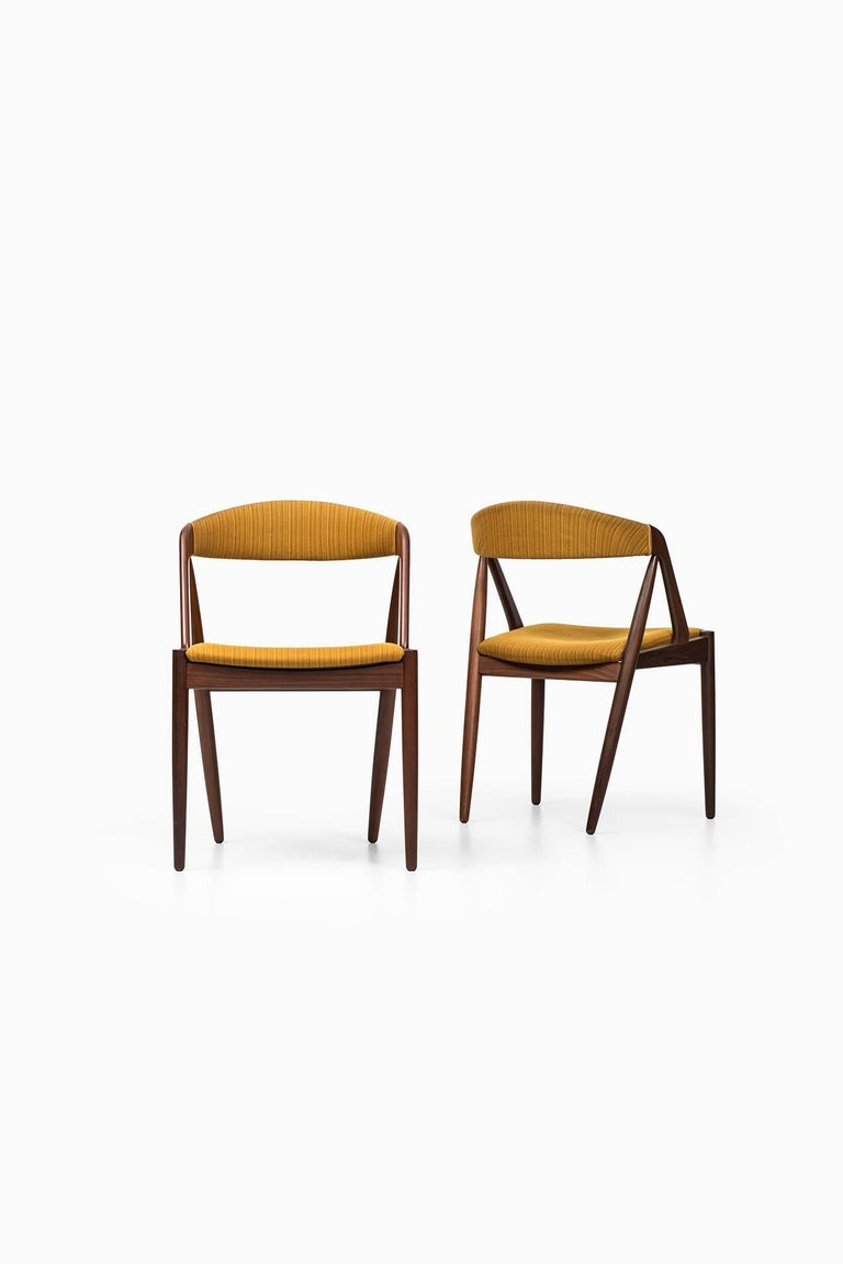 Kai Kristiansen Dining Chairs by Schou Andersen in Denmark For Sale 1