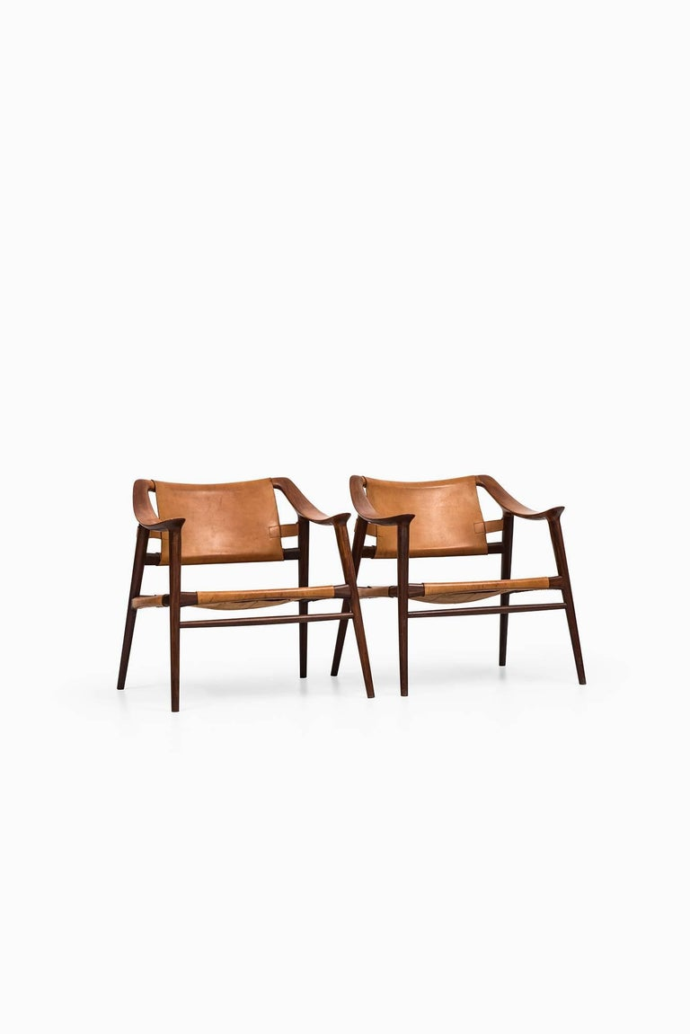 Scandinavian Modern Rolf Rastad & Adolf Relling Bambi Easy Chairs by Gustav Bahus in Norway For Sale