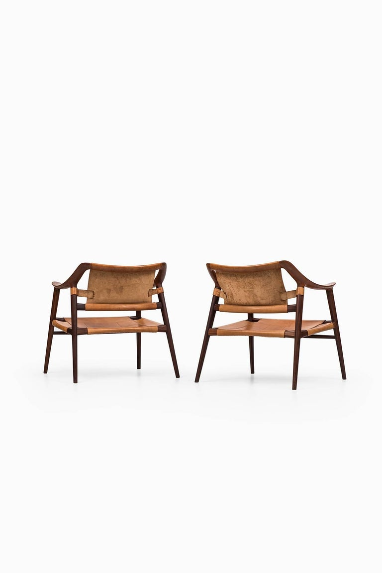 Rolf Rastad & Adolf Relling Bambi Easy Chairs by Gustav Bahus in Norway In Excellent Condition For Sale In Malmo, SE