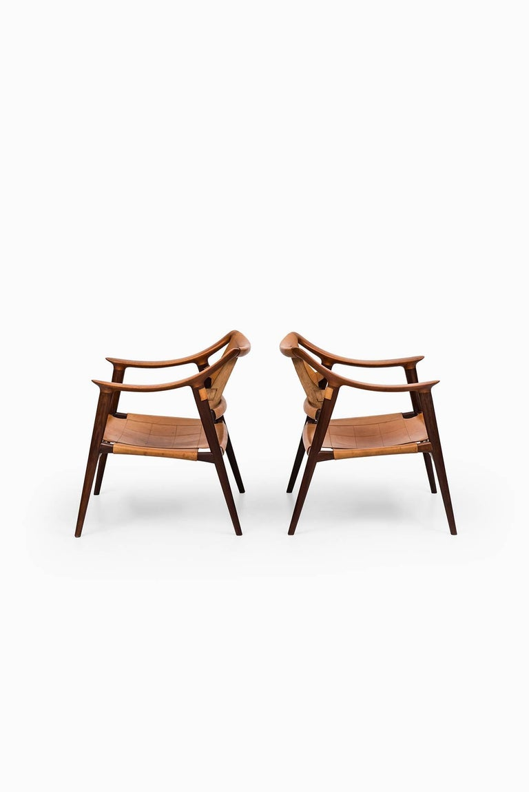 Mid-20th Century Rolf Rastad & Adolf Relling Bambi Easy Chairs by Gustav Bahus in Norway For Sale