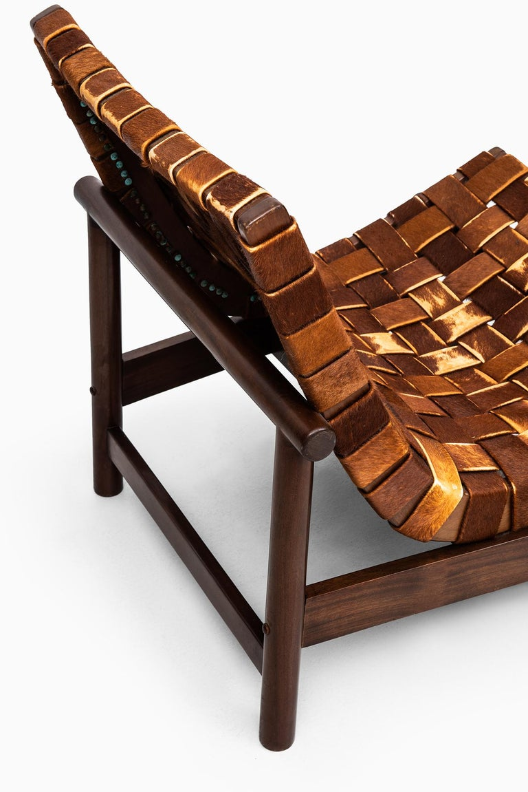 Cowhide Gonzalo Cordoba Easy Chair Model Guama by Dujo in Cuba For Sale