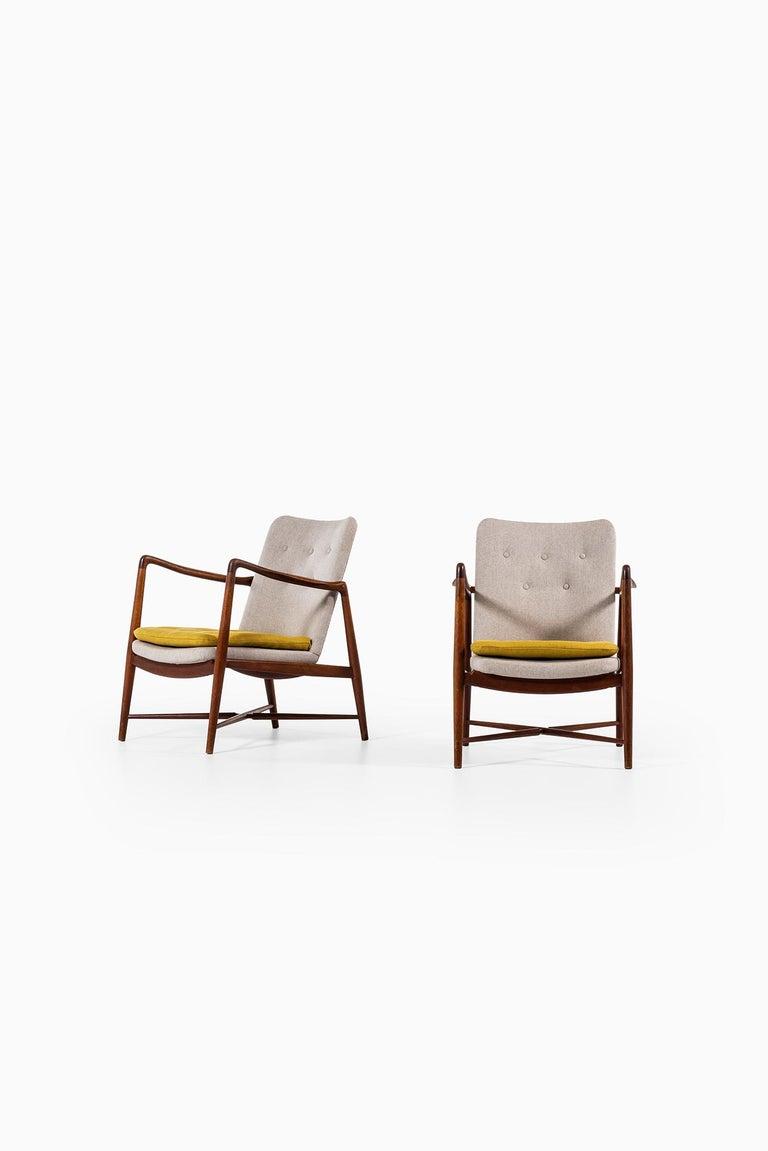 Finn Juhl Easy Chairs Model BO59 by Bovirke in Denmark For Sale 6