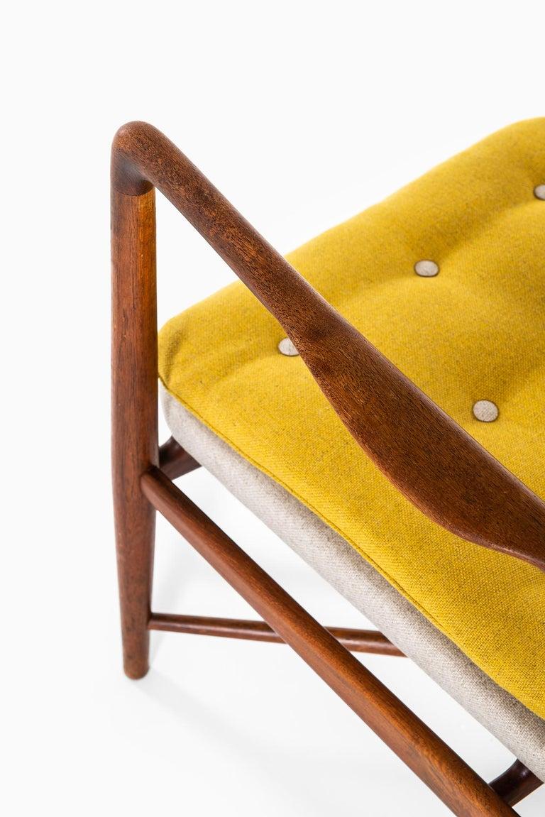Scandinavian Modern Finn Juhl Easy Chairs Model BO59 by Bovirke in Denmark For Sale