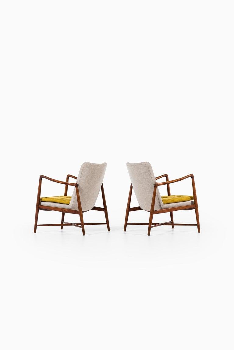 Danish Finn Juhl Easy Chairs Model BO59 by Bovirke in Denmark For Sale