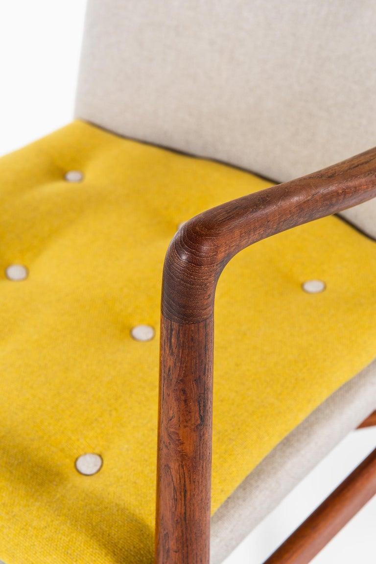 Finn Juhl Easy Chairs Model BO59 by Bovirke in Denmark In Excellent Condition For Sale In Malmo, SE