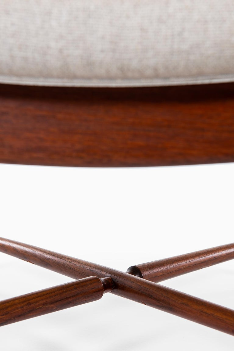Fabric Finn Juhl Easy Chairs Model BO59 by Bovirke in Denmark For Sale