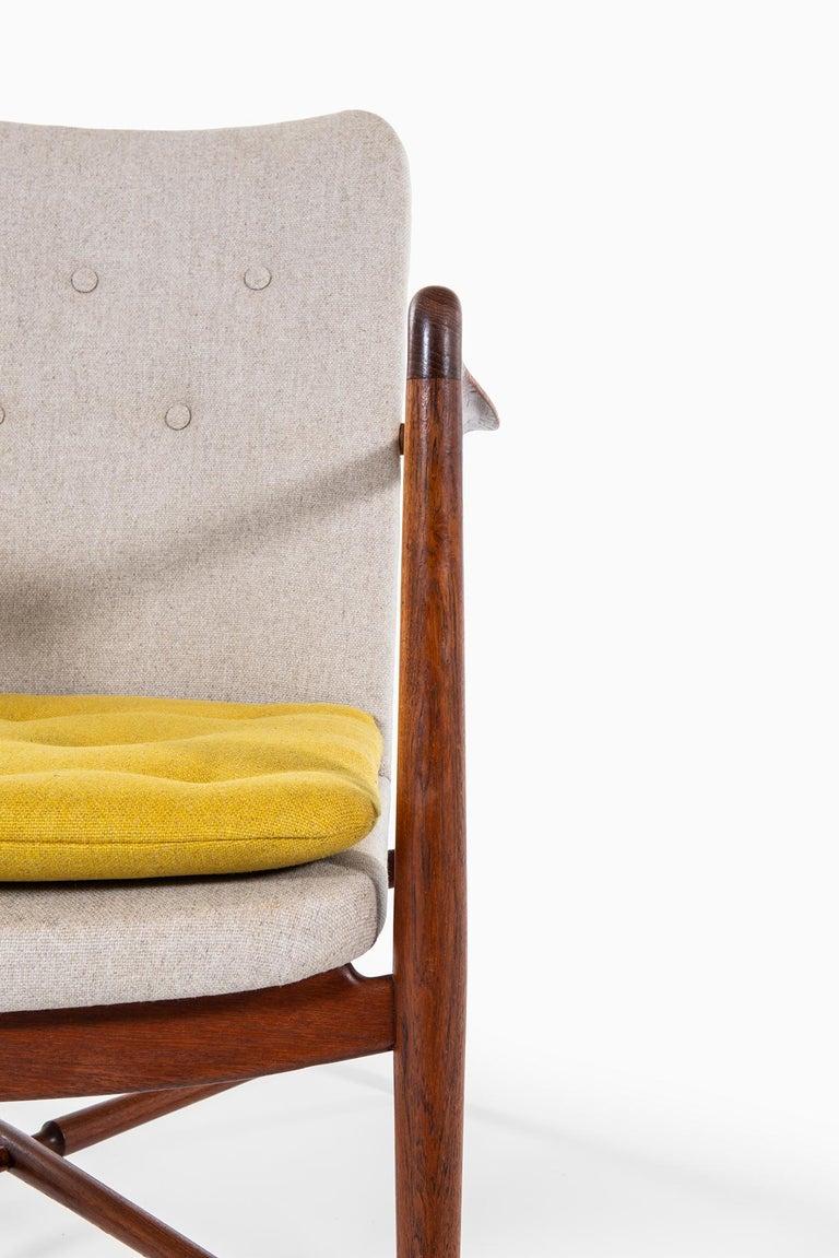 Finn Juhl Easy Chairs Model BO59 by Bovirke in Denmark For Sale 1