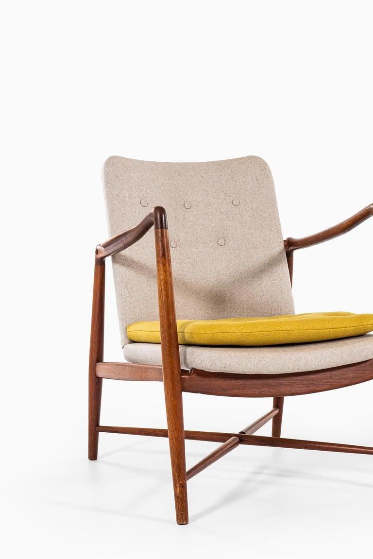 Finn Juhl Easy Chairs Model BO59 by Bovirke in Denmark For Sale 3