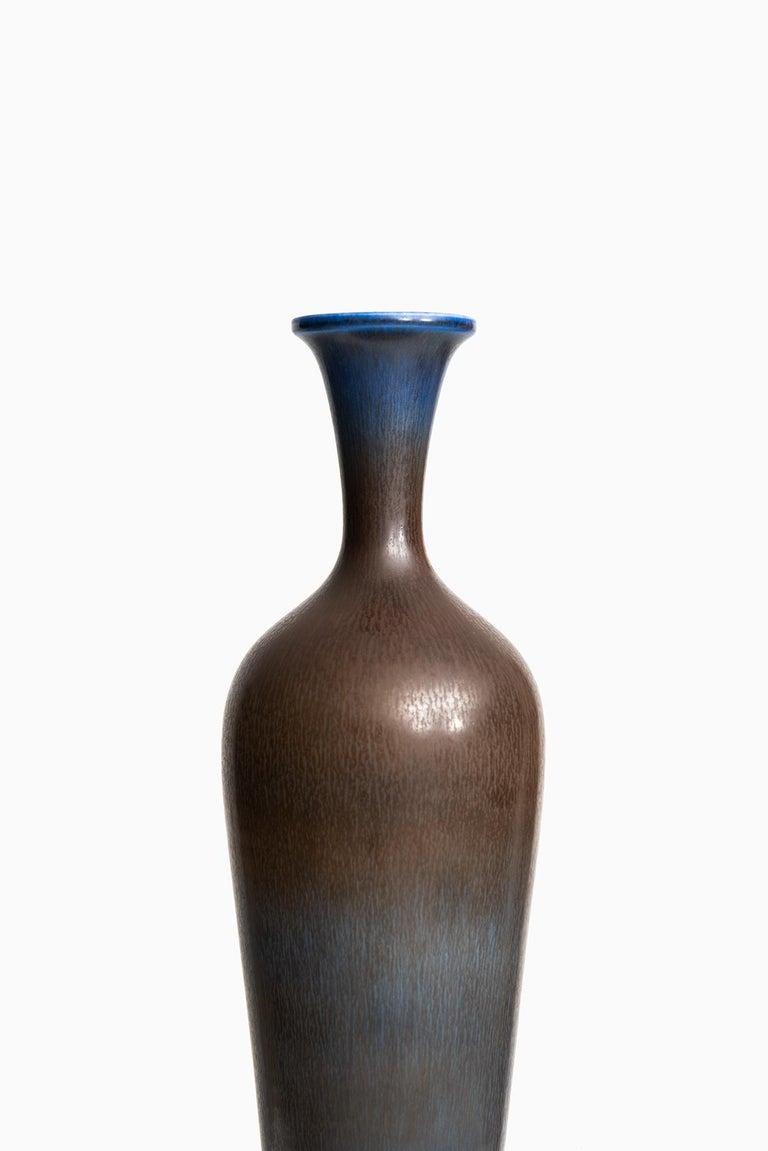 Rare large ceramic vase designed by Berndt Friberg. Produced by Gustavsberg in Sweden.