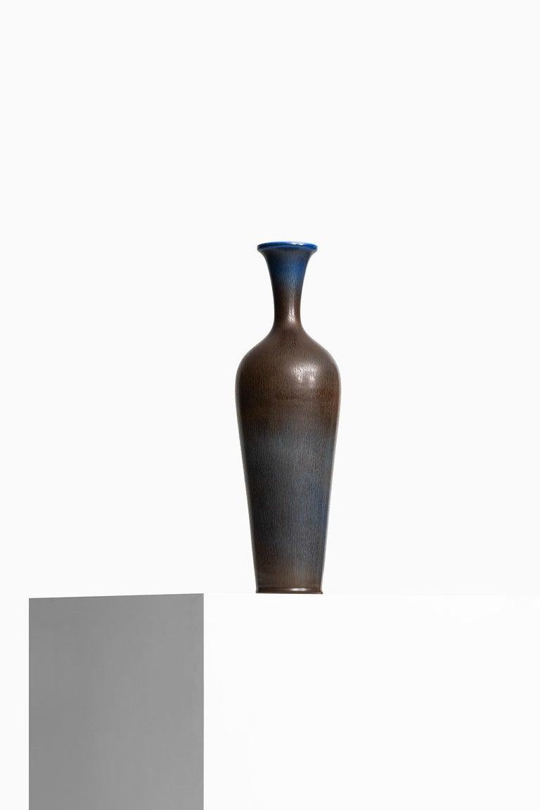 Swedish Berndt Friberg Large Ceramic Vase by Gustavsberg in Sweden For Sale