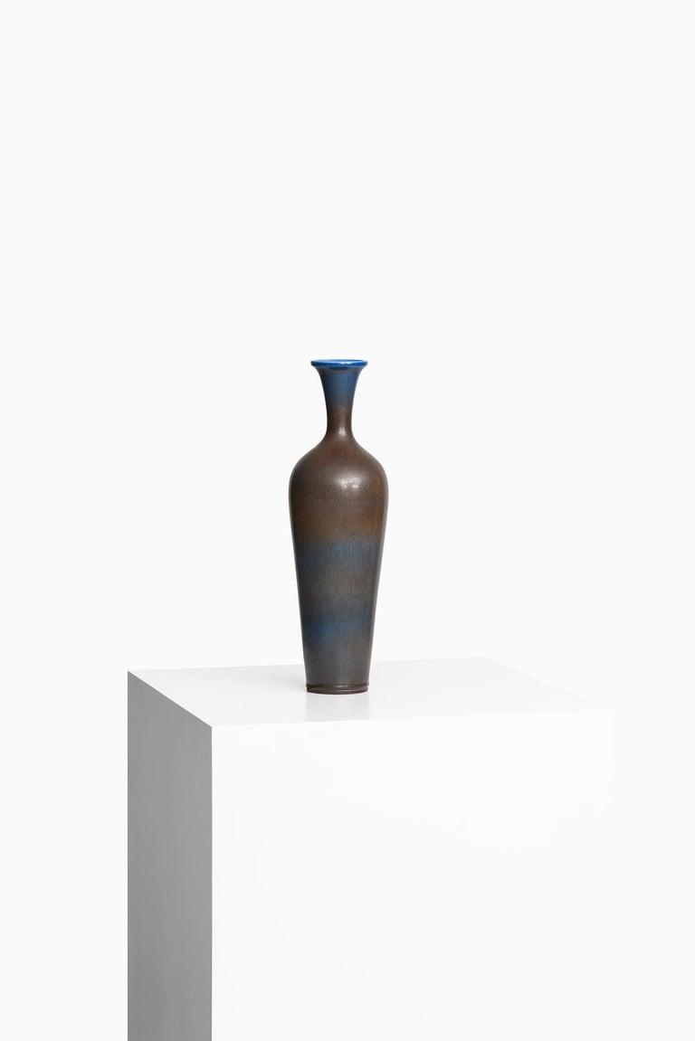 Mid-20th Century Berndt Friberg Large Ceramic Vase by Gustavsberg in Sweden For Sale
