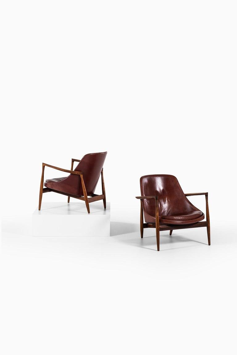 Ib Kofod-Larsen Elizabeth Easy Chairs by Christensen & Larsen in Denmark For Sale 4