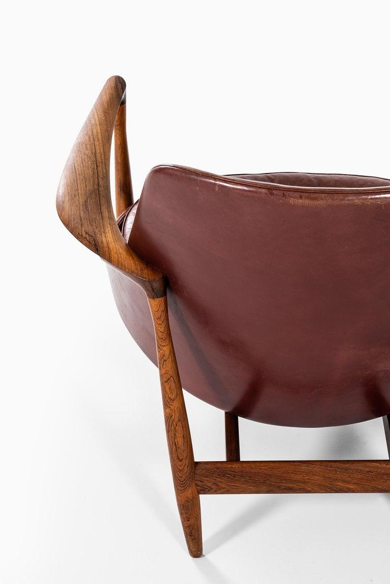 Mid-20th Century Ib Kofod-Larsen Elizabeth Easy Chairs by Christensen & Larsen in Denmark For Sale
