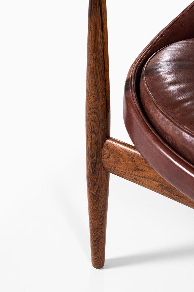Ib Kofod-Larsen Elizabeth Easy Chairs by Christensen & Larsen in Denmark For Sale 1