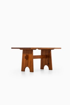 Axel Einar Hjorth attributed dining table in pine produced in Sweden