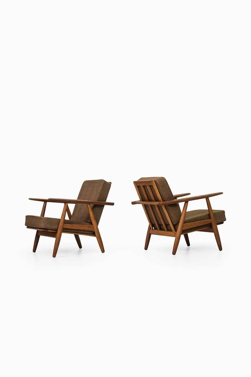 Danish Hans Wegner Cigar Easy Chairs by Getama in Denmark For Sale