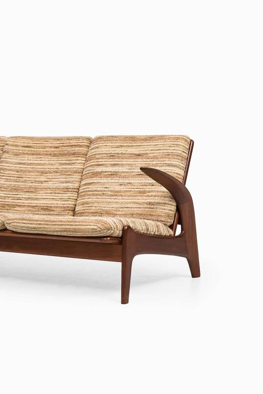 Rare sofa designed by Rolf Rastad & Adolf Relling. Produced by Arnestad Bruk in Norway.