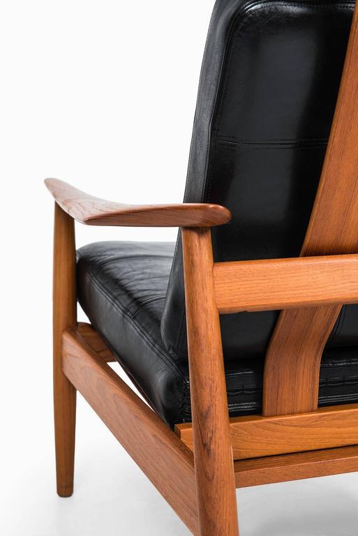 Danish Arne Vodder Reclining Chair Model FD-164 by Cado in Denmark For Sale