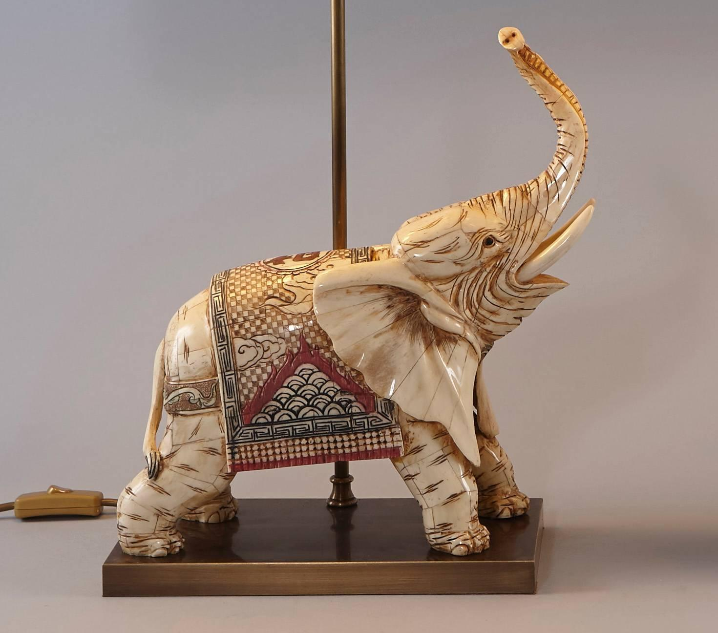 Table lamp elephant base best inspiration for table lamp for Table lamp elephant base