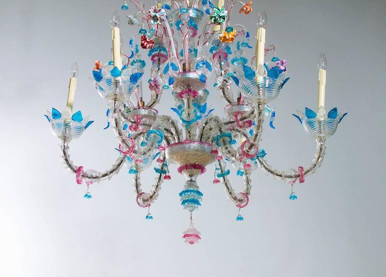 Paste Italian Venetian, Ca' Rezzonico Chandelier, blown Murano Glass, Galliano Ferro For Sale