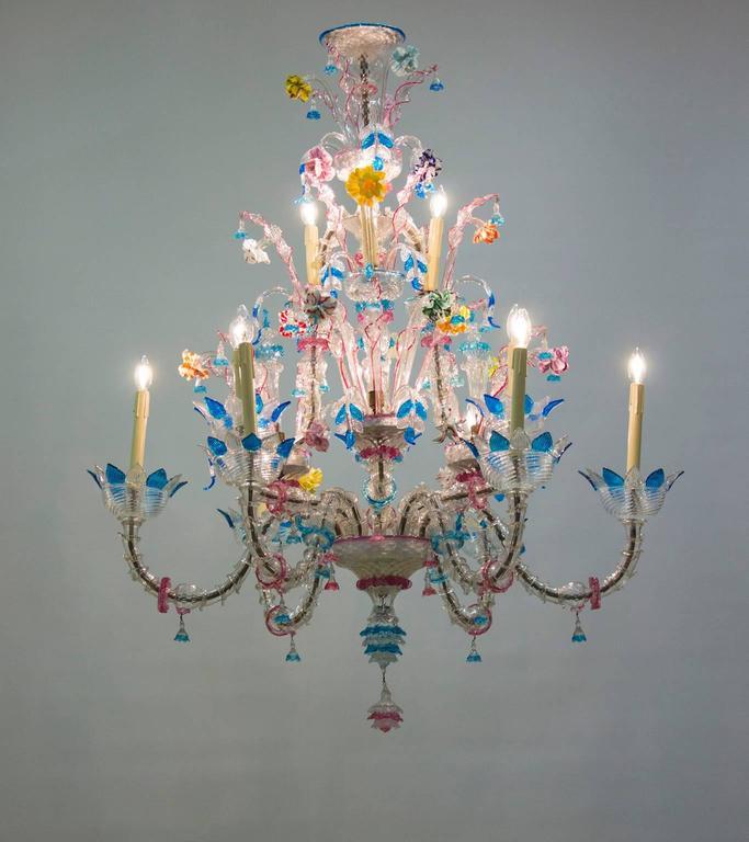 Italian Venetian, Ca' Rezzonico Chandelier, blown Murano Glass, Galliano Ferro For Sale 2