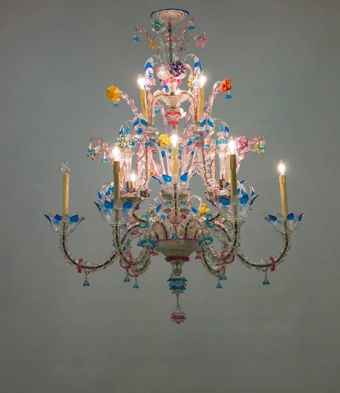 Italian Venetian, Ca' Rezzonico Chandelier, blown Murano Glass, Galliano Ferro For Sale 3