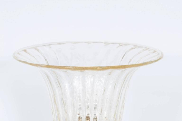 Italian Murano Glass Table Lamp, Attributed to Barovier & Toso, circa 1970s 6