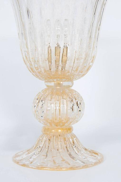 Italian Murano Glass Table Lamp, Attributed to Barovier & Toso, circa 1970s 3