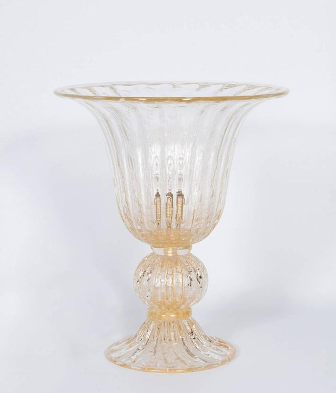 Italian Murano Glass Table Lamp, Attributed to Barovier & Toso, circa 1970s 2