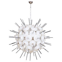 Italian Sputnik Chandelier in Murano Glass 24-Karat Gold