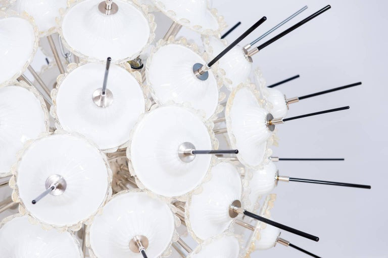 Late 20th Century Italian Sputnik Chandelier in Murano Glass 24-Karat Gold