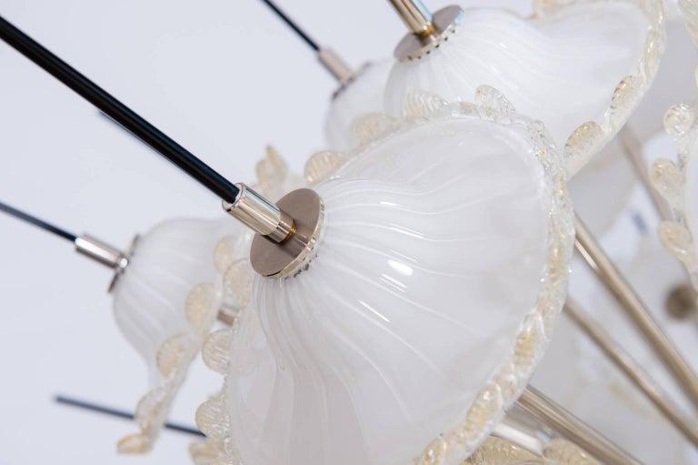 24k Gold Italian Sputnik Chandelier in Murano Glass 24-Karat Gold