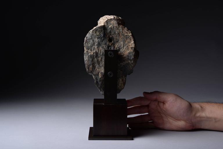 Gandharan Schist Stone Head of Buddha, 250 AD For Sale 1